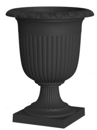 58cm Recycled Self-Watering Rubber Crescendo Urn Slate Planter