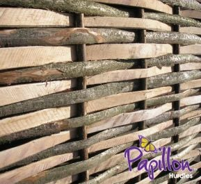 Contemporary Split Hazel Hurdles Fencing Panel 1.82m x 1.82m (6ft x 6ft) - By Papillon™
