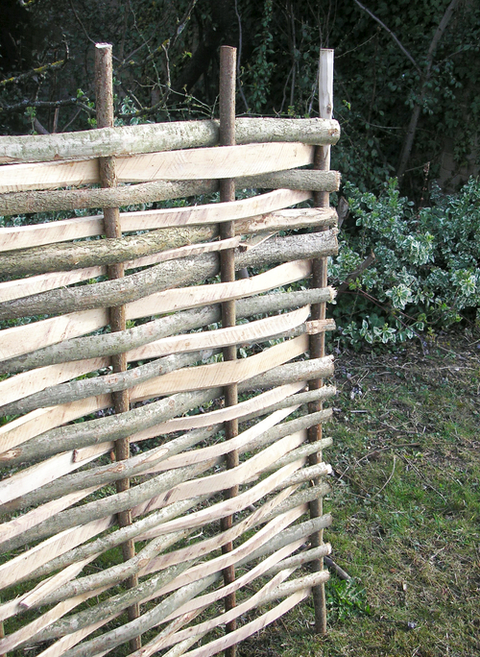 3ft (91.4cm) Contemporary Split Hazel Hurdles: Small Fencing Panel by Papillon™