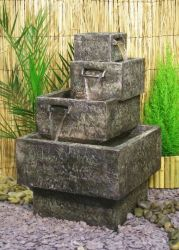 Stone Effect Cascade Water Feature with LED lights