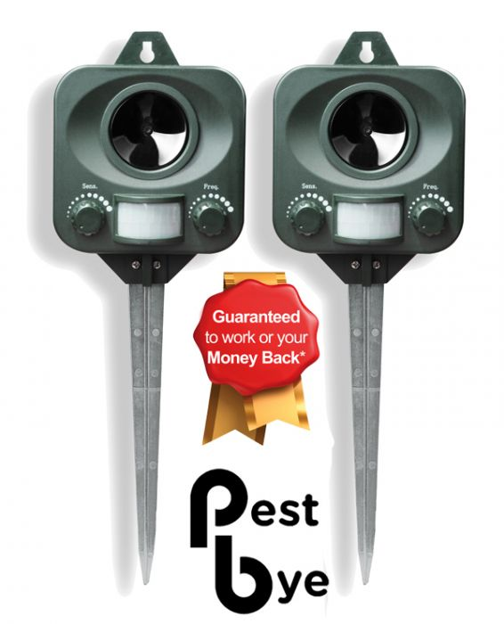 Set of 2 PestBye® Battery Operated Cat Repellers