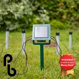 Mole Chaser 4 Stake Solar Mole Deterrent Kit by PestBye®