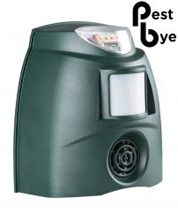 PestBye® Ultrasonic Bird Repeller with Strobe Light - Mains adaptor included