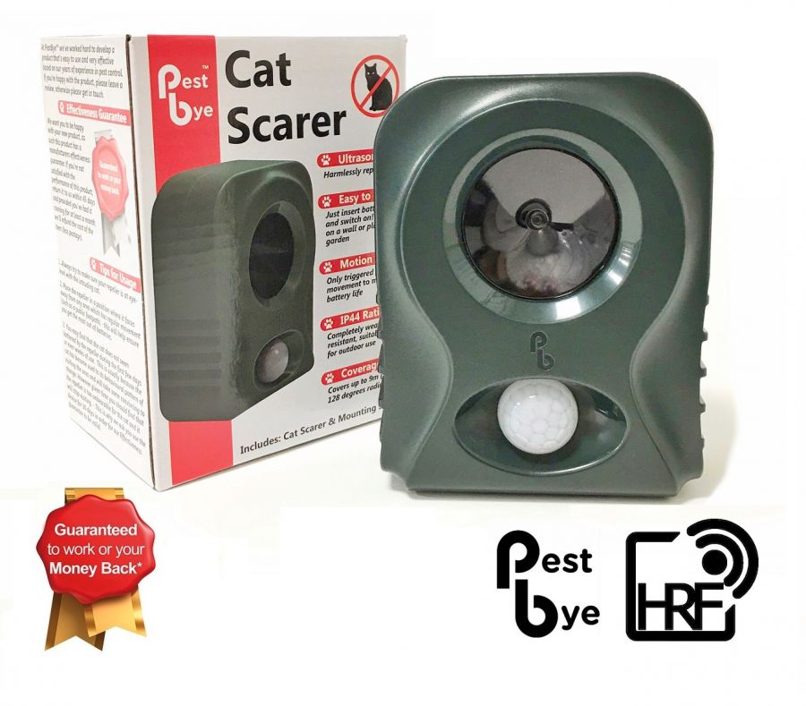 Set of 2  Battery Operated Cat Repellers V2 with HyperResonance Frequency™ By Pestbye®