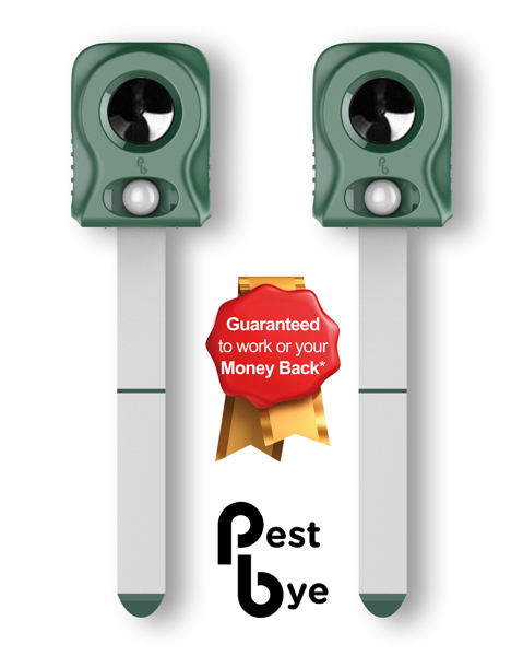 Set of 2 Pestbye™ Battery Operated Cat Repellers V2 with HyperResonance Frequency™