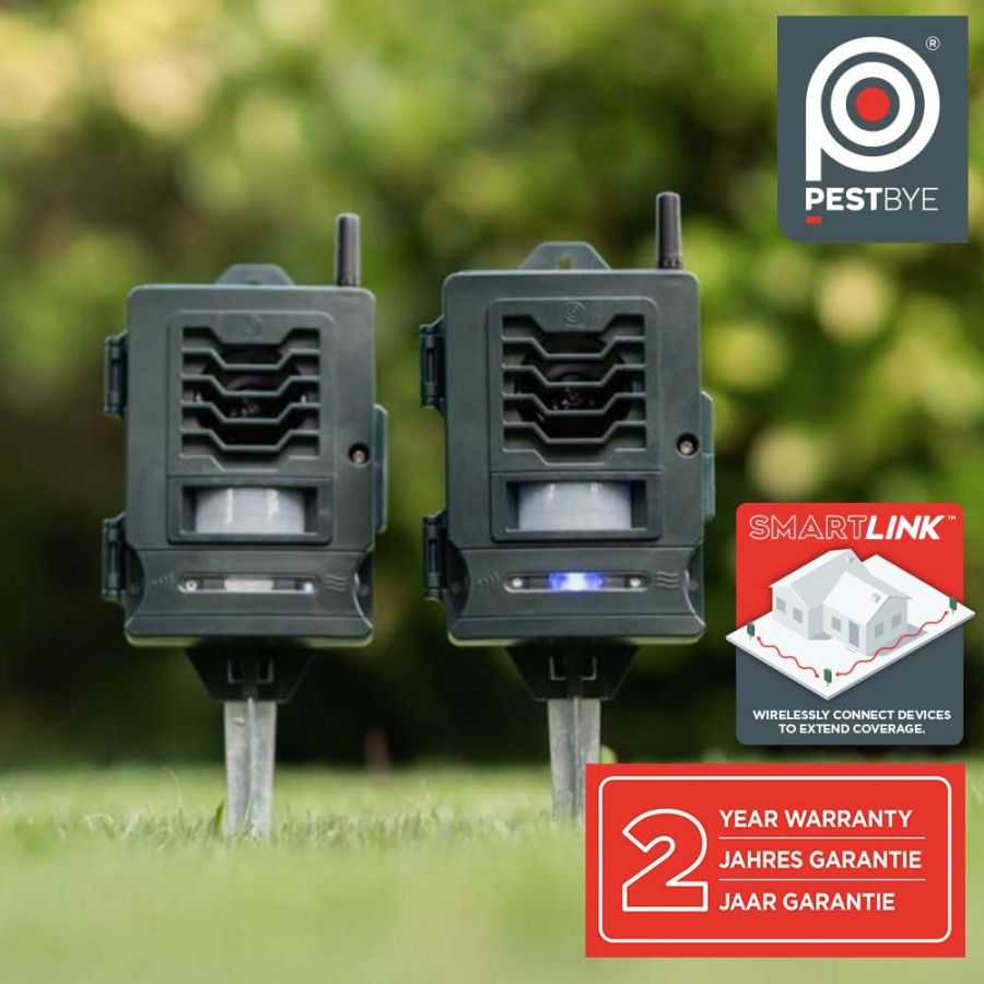 Smart Cat Repeller System (Pair) - Solar Powered by PestBye®