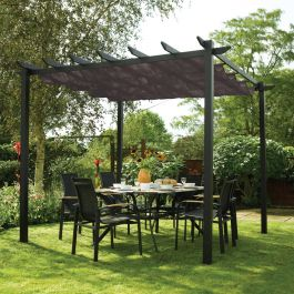 3m x 3m Grey Latina Gazebo Canopy by Rowlinson