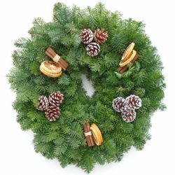 Real Christmas Wreath | Noble fir | 12 Inch