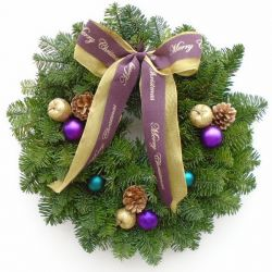 Real Christmas Wreath | Noble fir | 10 Inch