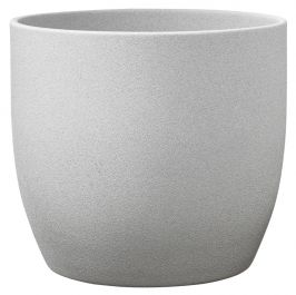 24cm Light Grey Indoor Plant Pot | By Primrose