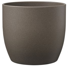 24cm Grey Brown Indoor Plant Pot | By Primrose