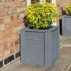 Palermo 45cm Wooden Square Planter by Rowlinson