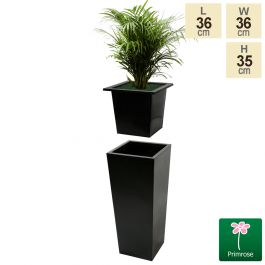 L36cm Flared Square Planter Insert - By Primrose™