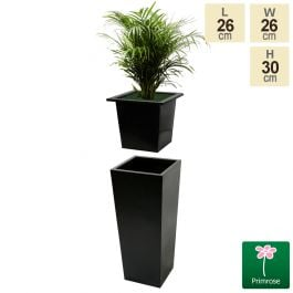 L26cm Flared Square Planter Insert - By Primrose™