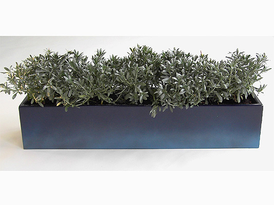 Fibreglass Window Box Planter – two tone blue, graphite, other colours - H18cm x L90cm