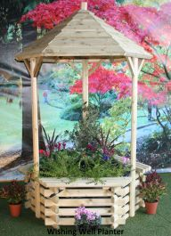 Large Wishing Well Wooden Planter 6ft 7inches