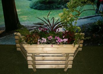 Wall Planter with Seat -  H41cm x  W1.2m