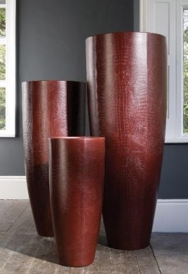 Lisbon Geometric Planter - Leather