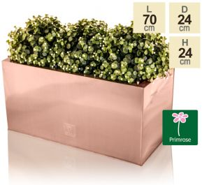 L70cm Zinc Galvanised Trough Planter in a Copper Finish by Primrose™