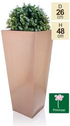 H48cm Zinc Galvanised Flared Square Planter in a Copper Finish by Primrose®
