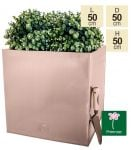 50cm Zinc Galvanised Cube Planter in a Copper Finish by Primrose®