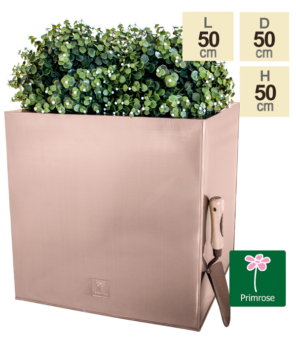 50cm Zinc Galvanised Cube Planter in a Copper Finish by Primrose™