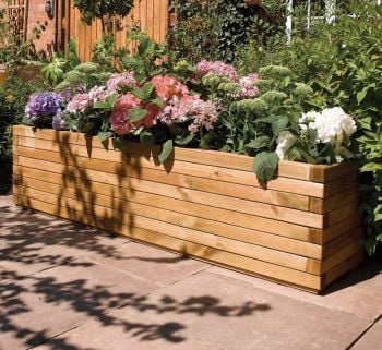 1.8m Wooden Patio Trough Planter