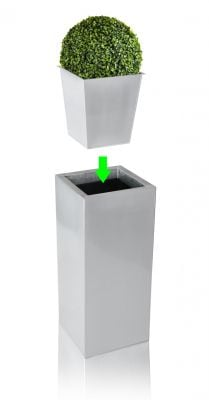 36cm Tall Cube Planter Insert - By Zink™