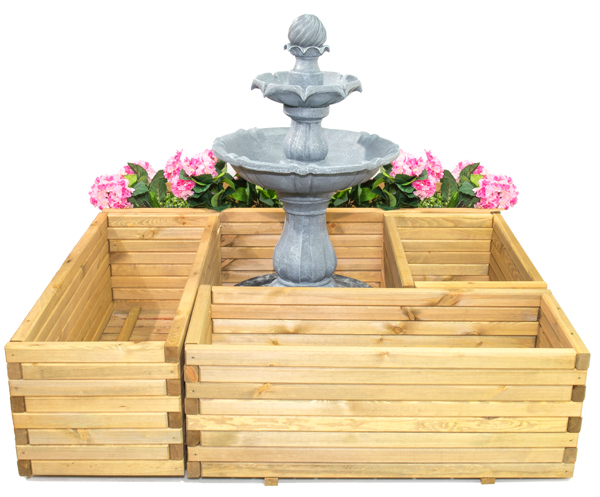 L2m Pine Raised Trough Planter