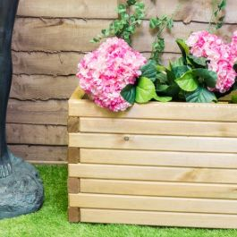 L1m Pine Raised Trough Planter