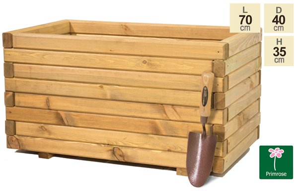 L70cm Pine Raised Trough Planter