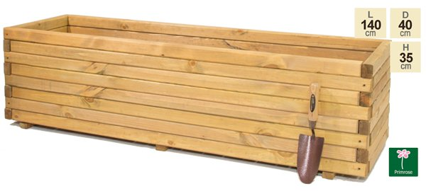 L1.4m Pine Raised Trough Planter