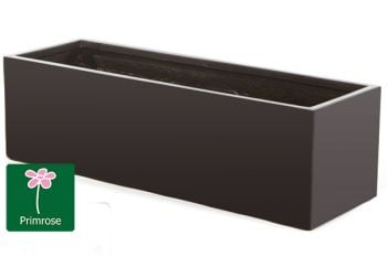 L98cm Fibreglass Trough Planter in Matt Black - By Primrose®