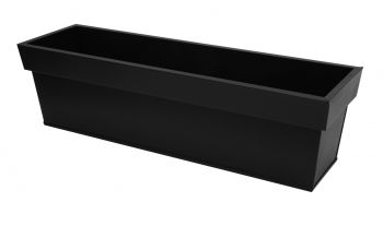 L60cm Zinc Edge Black Trough Planter - By Primrose®
