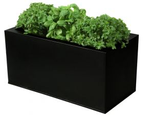 L50cm Zinc Black Planter - By Primrose™