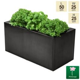 L50cm Zinc Pewter Kitchen Herb Planter - By Primrose™