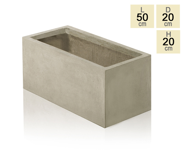50cm Fibrecotta Small Stone Trough Planter