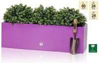 L80cm Gloss Fibreglass Trough Planter in Purple - By Primrose®