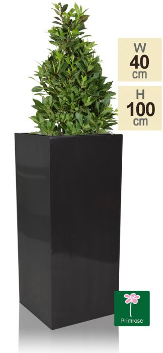 H1m Zinc Galvanised Platinum Tall Cube Planter - By Primrose®