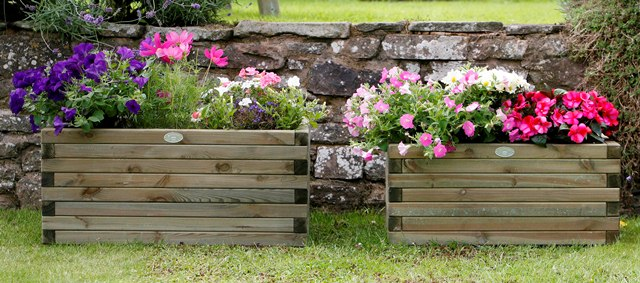 L80cm Large Wooden Rectangular Planter