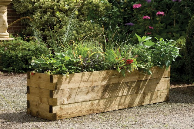 1.8m Timber Caledonian Raised Bed Planter