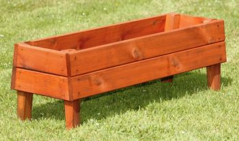 L49.5cm Small Wooden Rectangular Planter on Legs