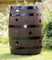 Strawberry or Herb Barrel Planter