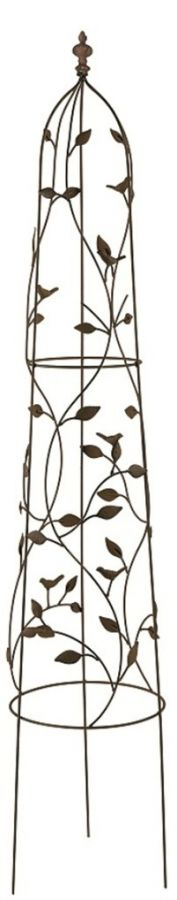 1.6m Rustic Iron Nature Obelisk Planter
