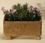 Natural Finish Small Concrete Bedding Planter L40cm