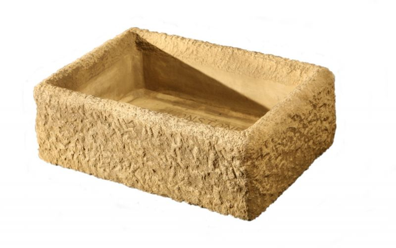 L54cm Concrete Rustic Finish Alpine Planter