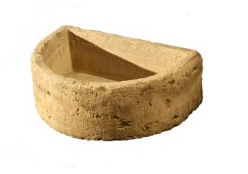 Natural Finish Half Round Concrete Planter L54cm