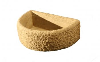 L54cm Concrete Natural Finish Alpine Half Circle Planter
