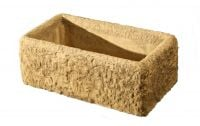 L62cm Concrete Rustic Finish Trough Planter