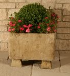 L50cm Concrete Natural Finish Square Planter